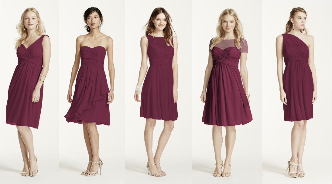 Mulberry colored dresses